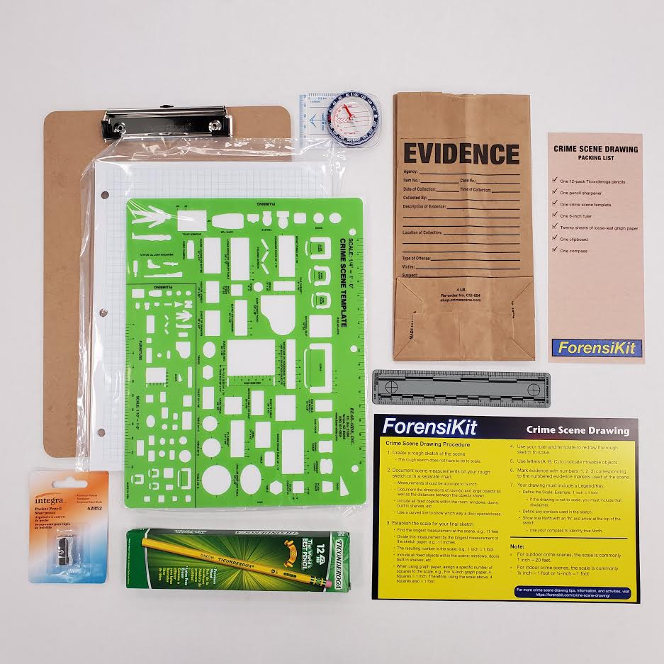 ForensiKit by Crime Scene - Crime Scene Drawing box contents