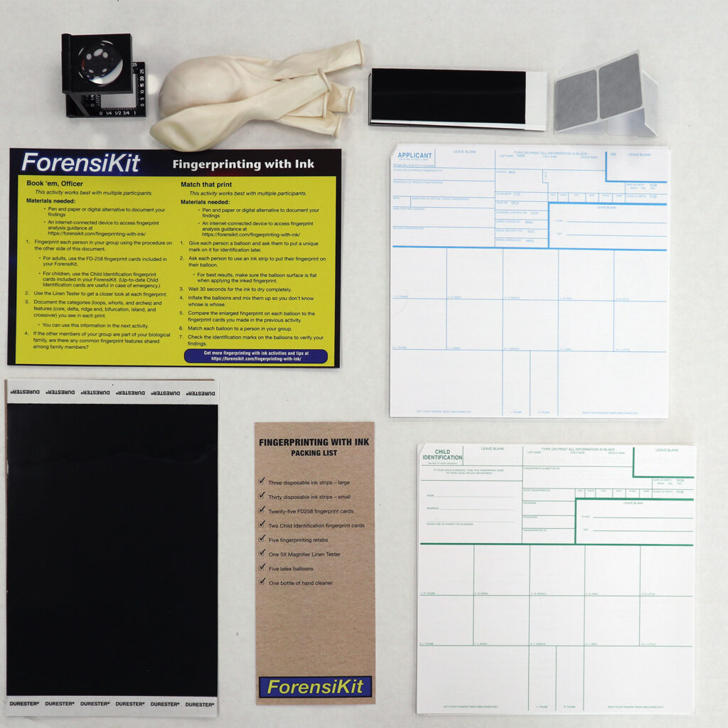 ForensiKit by Crime Scene - Printing with Ink box contents