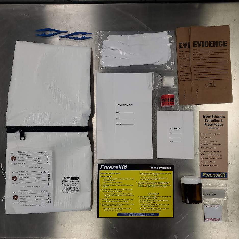 Contents of the Trace Evidence ForensiKit by Crime Scene